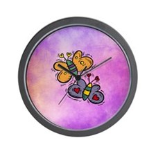 BUTTERFLIES Wall Clock