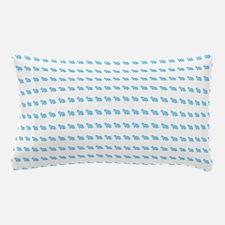 Cute Blue Mini Lop Bunny Pattern Pillow Case