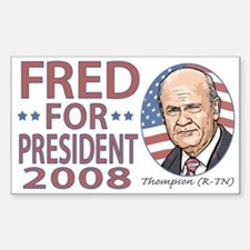 Fred Thompson 2008 Rectangle Decal