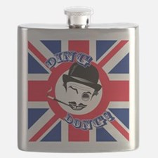 """Film Cad's Union Jack """"Ding Dong!"""" Flask"""