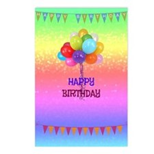 Birthday Wishes Postcards (Package of 8)
