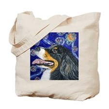 Starry Night Bernese Mountain Tote Bag