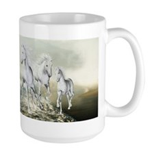 White Horses On The Beach Mugs