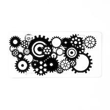 Steampunk gears Aluminum License Plate