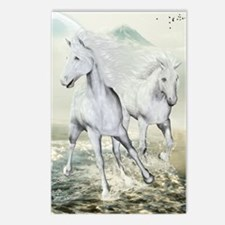 White Horses On The Beach Postcards (Package of 8)
