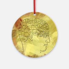 Brain Map Ornament (Round)