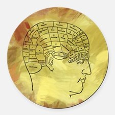Brain Map Round Car Magnet