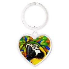 Gold and Blue Macaw Parrot Fantasy Keychains