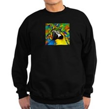 Gold and Blue Macaw Parrot Fantasy Sweatshirt