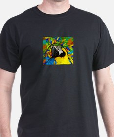 Gold and Blue Macaw Parrot Fantasy T-Shirt