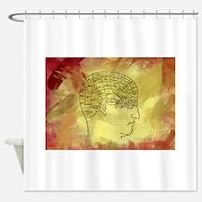Brain Map Shower Curtain
