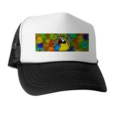 Gold and Blue Macaw Parrot Fantasy Trucker Hat