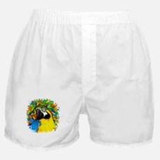Gold and Blue Macaw Parrot Fantasy Boxer Shorts