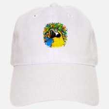 Gold and Blue Macaw Parrot Fantasy Baseball Baseball Baseball Cap