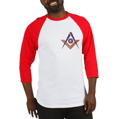 Embedded Masonic Compasses Baseball Jersey