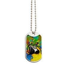 Gold and Blue Macaw Parrot Fantasy Dog Tags