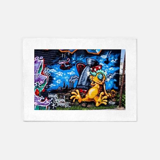 Ganja Graffiti 5'x7'Area Rug