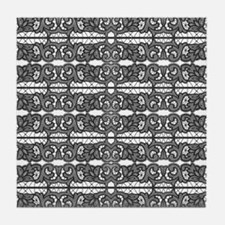 Victorian Black Lace Tile Coaster
