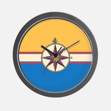 Antique Compass Rose Nautical Design Wall Clock