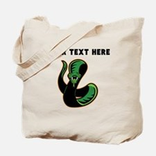 Custom Green Snake Tote Bag