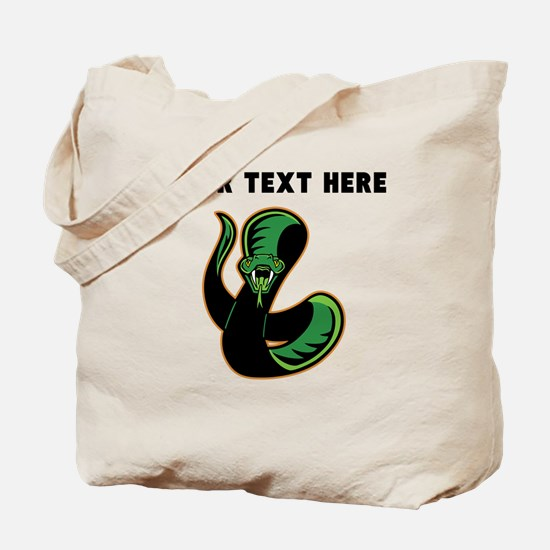 Custom Green Snake Tote Bag