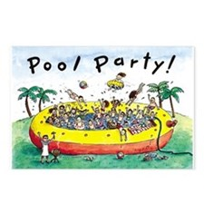 Pool Party Invitation Postcards (Package of 8)