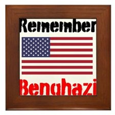 Remember Benghazi Framed Tile