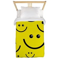 Yellow Smiley Faces Twin Duvet