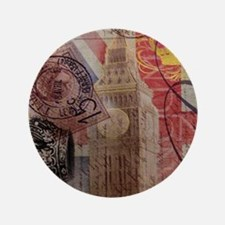 """UK flag jubilee vintage decor 3.5"""" Button"""