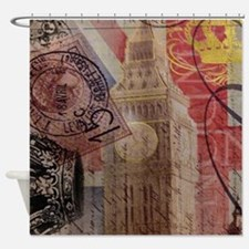 UK flag jubilee vintage decor Shower Curtain