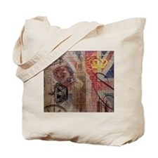 UK flag jubilee vintage decor Tote Bag