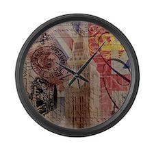 UK flag jubilee vintage decor Large Wall Clock