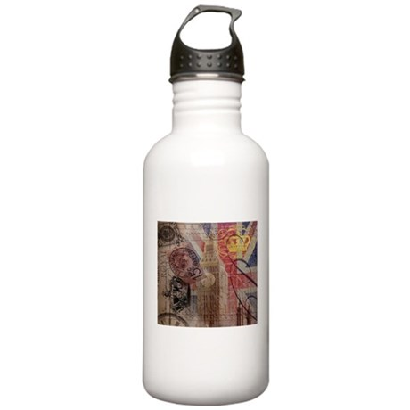 UK flag jubilee vintage decor Water Bottle