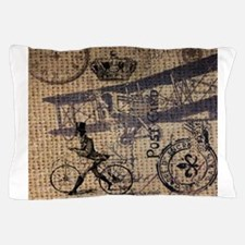 UK vintage bicycle industrial decor Pillow Case