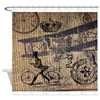 UK vintage bicycle industrial decor Shower Curtain