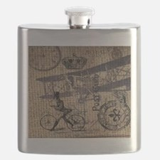 UK vintage bicycle industrial decor Flask
