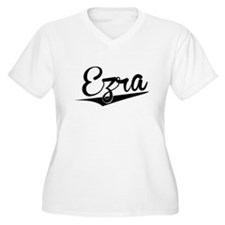 Ezra, Retro, Plus Size T-Shirt