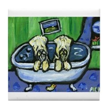 SOFT COATED WHEATEN TERRIER ducky Tile Coaster