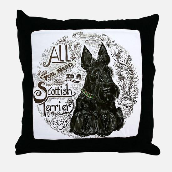 Scottie Basics Throw Pillow