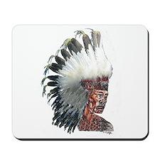 Native American Indian In Headdress Mousepad