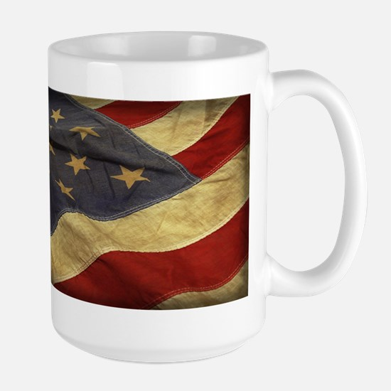 Distressed Vintage American Flag Mugs