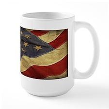 Distressed Vintage American Flag Mugs