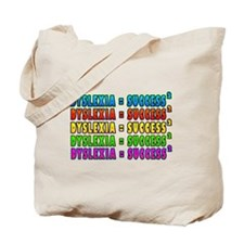 Dyslexia Success 2 fabspark -txt colourfu Tote Bag