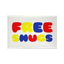 FREE SNUGS Rectangle Magnet