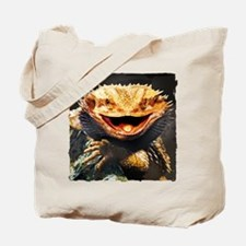 Grotesque Bearded Dragon Lizard Tote Bag