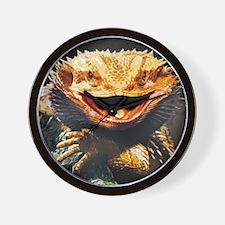 Grotesque Bearded Dragon Lizard Wall Clock
