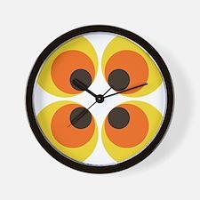 70s Wallpaper Wall Clock