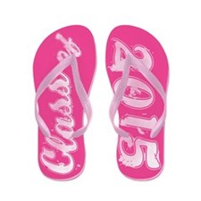 PINK on PINK Class of 2015 Flip Flops