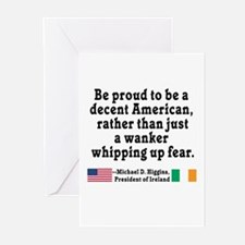 Michael D Higgins Quote Greeting Cards (Pk of 10)