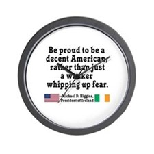 Michael D Higgins Quote Wall Clock